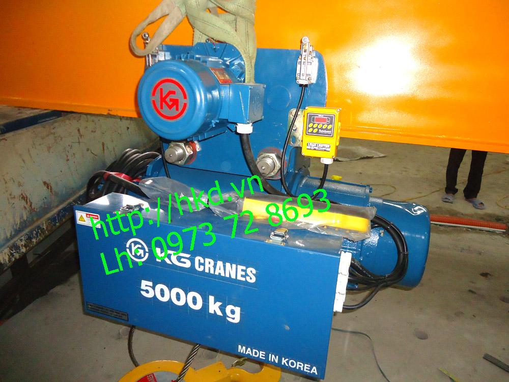 Palang cáp điện 5 tấn dầm đơn KG
