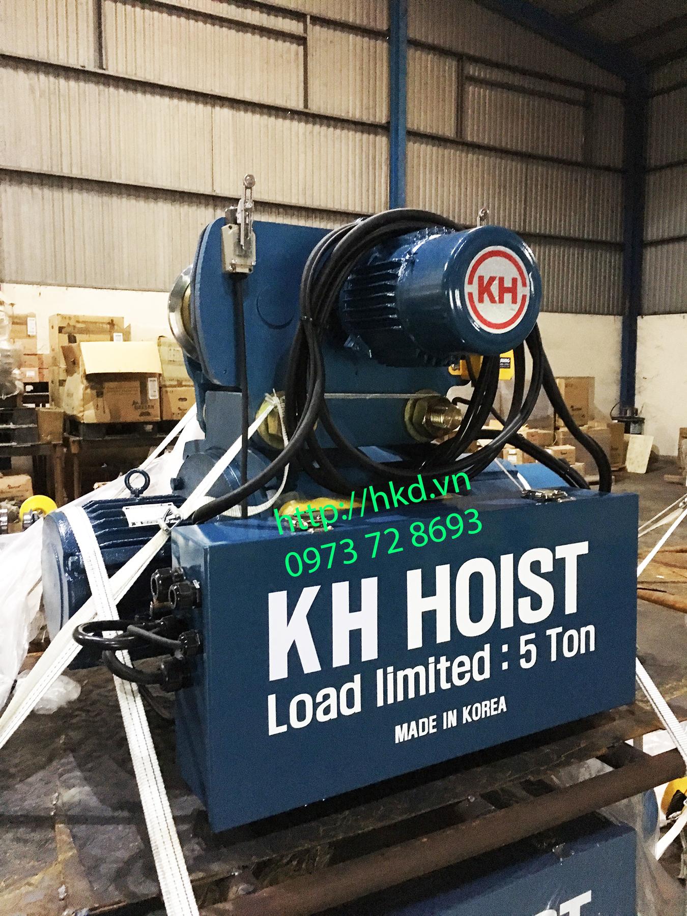 Palang cáp điện KH 3 tấn, 5 tấn tại HKD