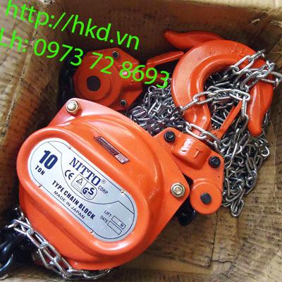 Palang xích kéo tay Nitto 10 tấn (Chuẩn Nitto 10T - 90VP5)