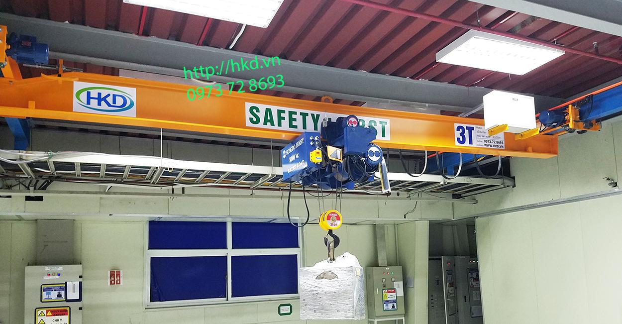 Cầu trục treo 3 tấn x 8m khẩu độ tại HKD