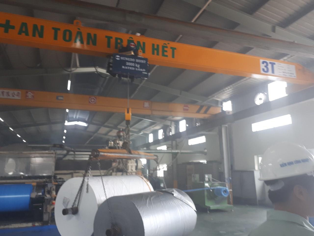 Cầu trục dầm đơn 3 tấn x 14 mét