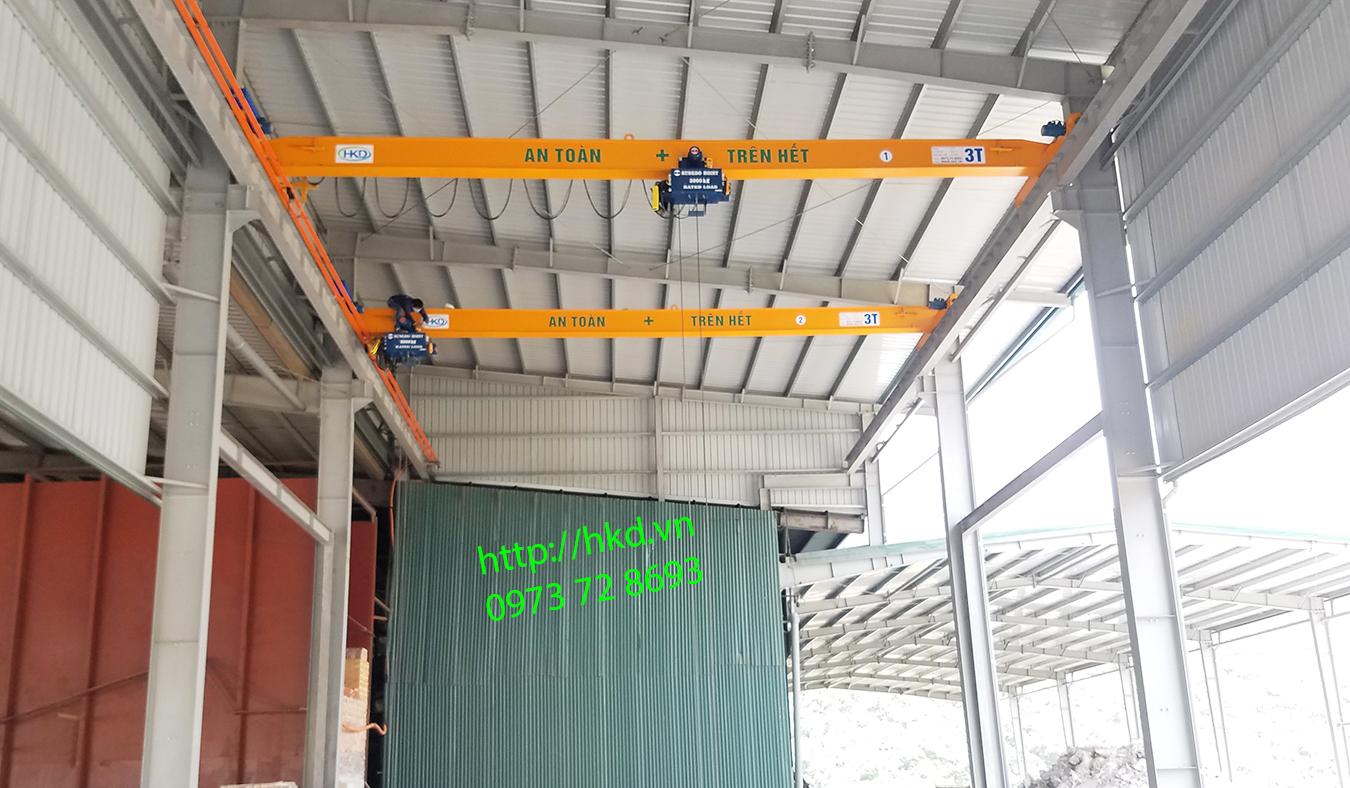 Song cầu trục dầm đơn 3 tấn x 13m HKD