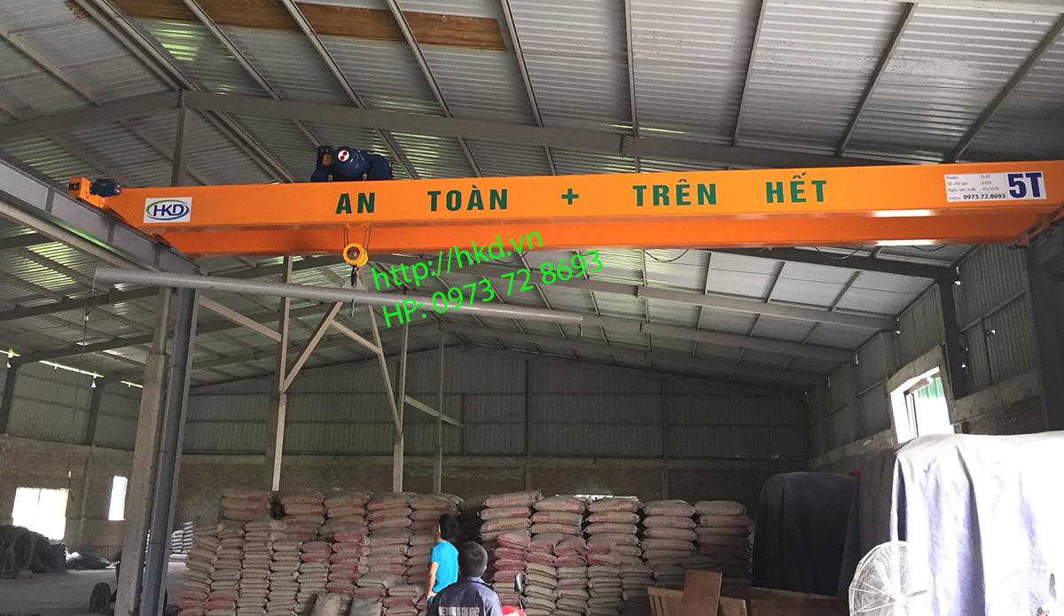 Cầu trục dầm đôi 5 tấn sử dụng Pa lăng SungDo