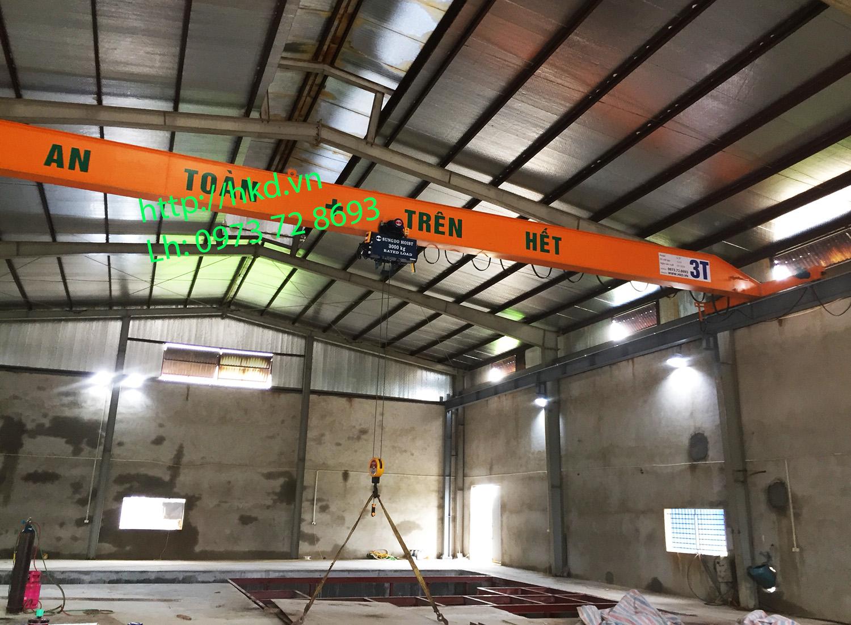 Cầu trục dầm đơn 3 tấn x 22.5 mét
