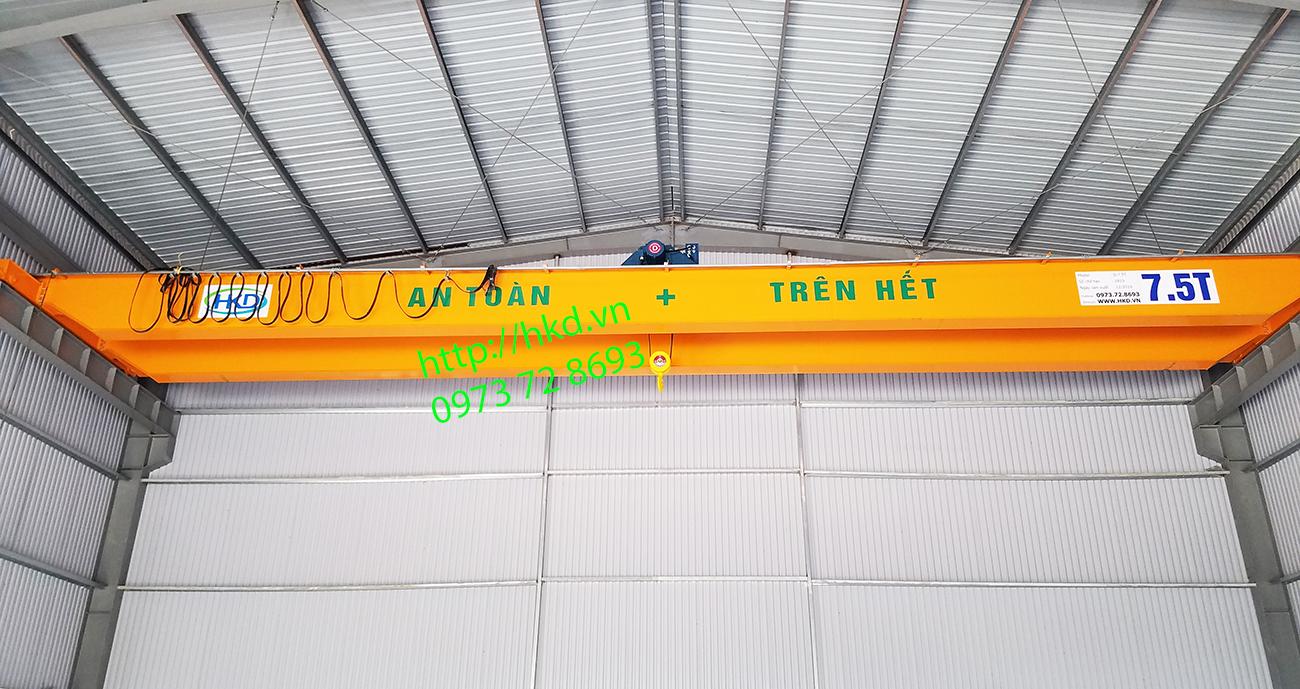 cầu trục dầm đôi 7.5 tấn lắp tại TP. Nam Định
