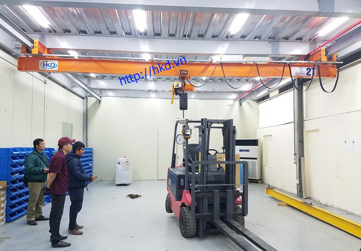 Cầu trục treo dầm đơn 2 tấn tại HKD cung cấp