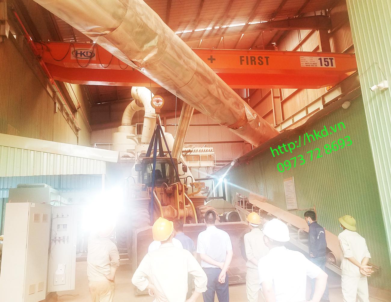 Cầu trục dầm đôi 15 tấn, cầu trục 15 tấn  x 13m HKD