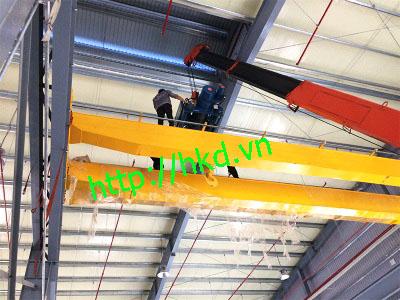 Cầu trục dầm đôi 3 tấn tại HKD