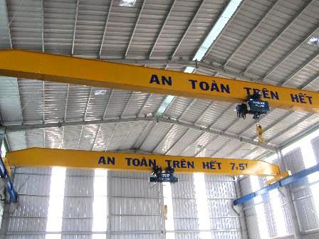 Cầu trục dầm đơn 7.5 tấn, cẩu trục 7.5 tấn