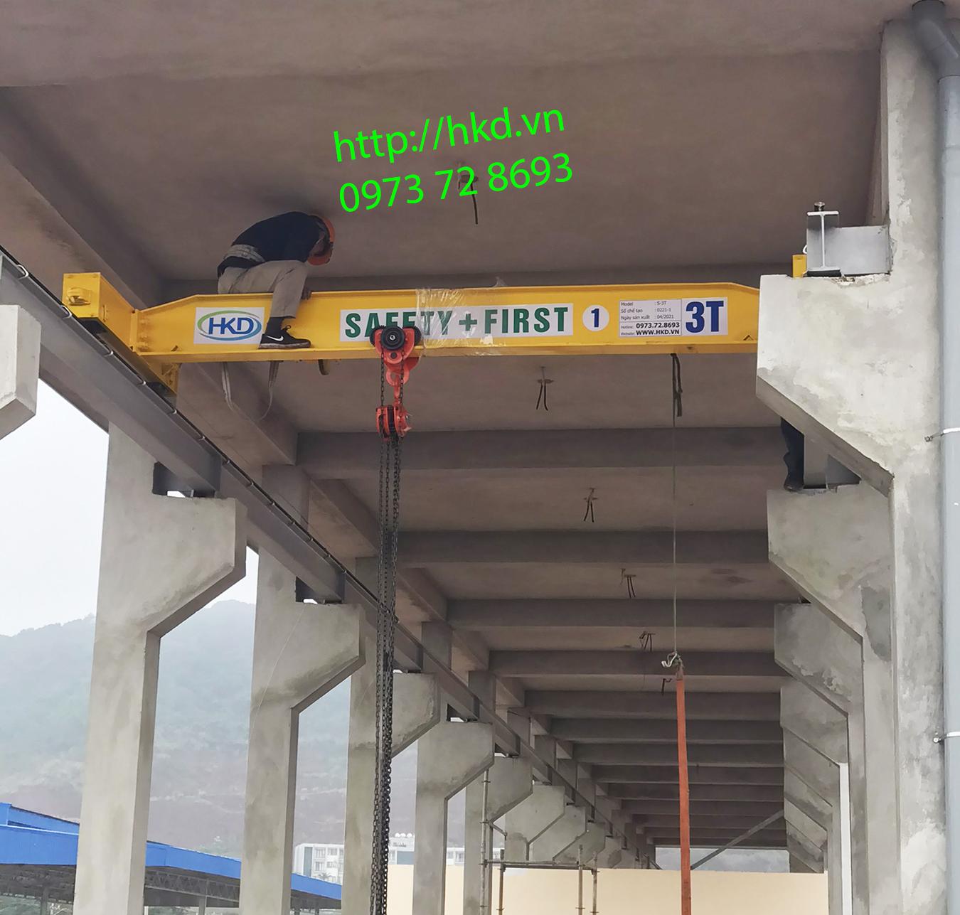 Cầu trục kéo tay 3 tấn, 5 tấn tại HKD