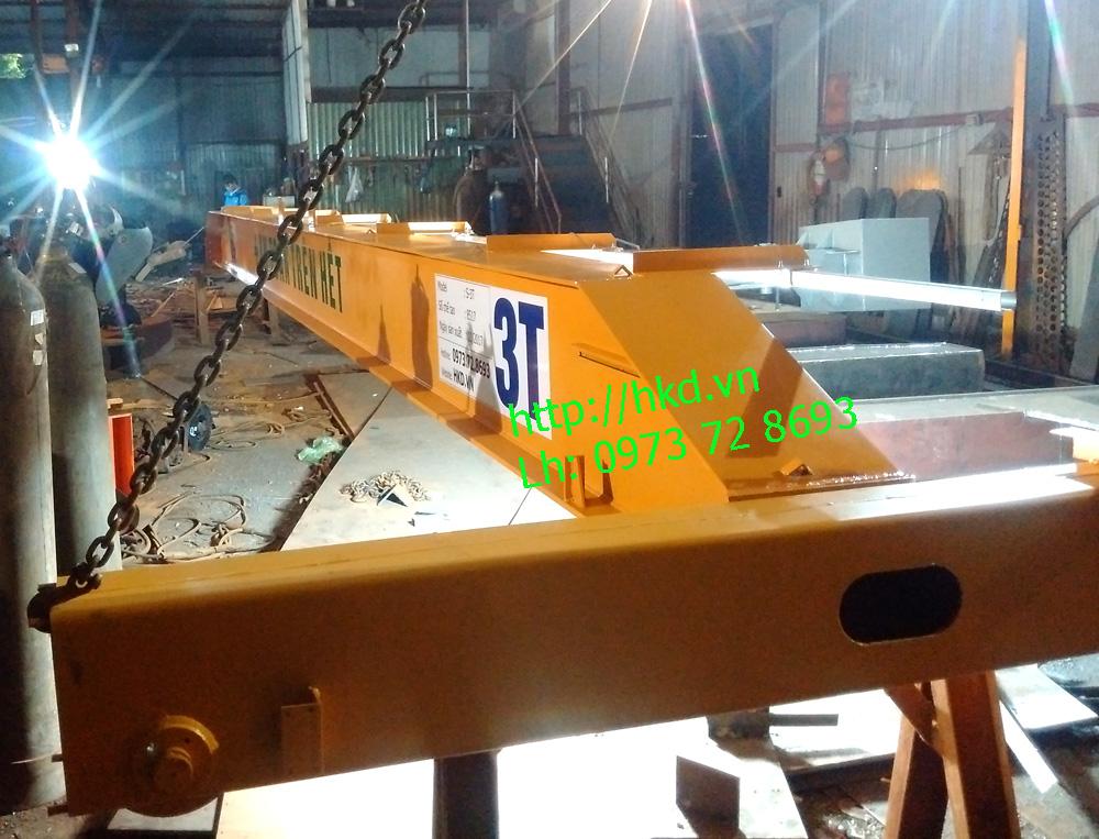 Cầu trục dầm đơn 3 tấn x 8m lắp tại Bắc Ninh