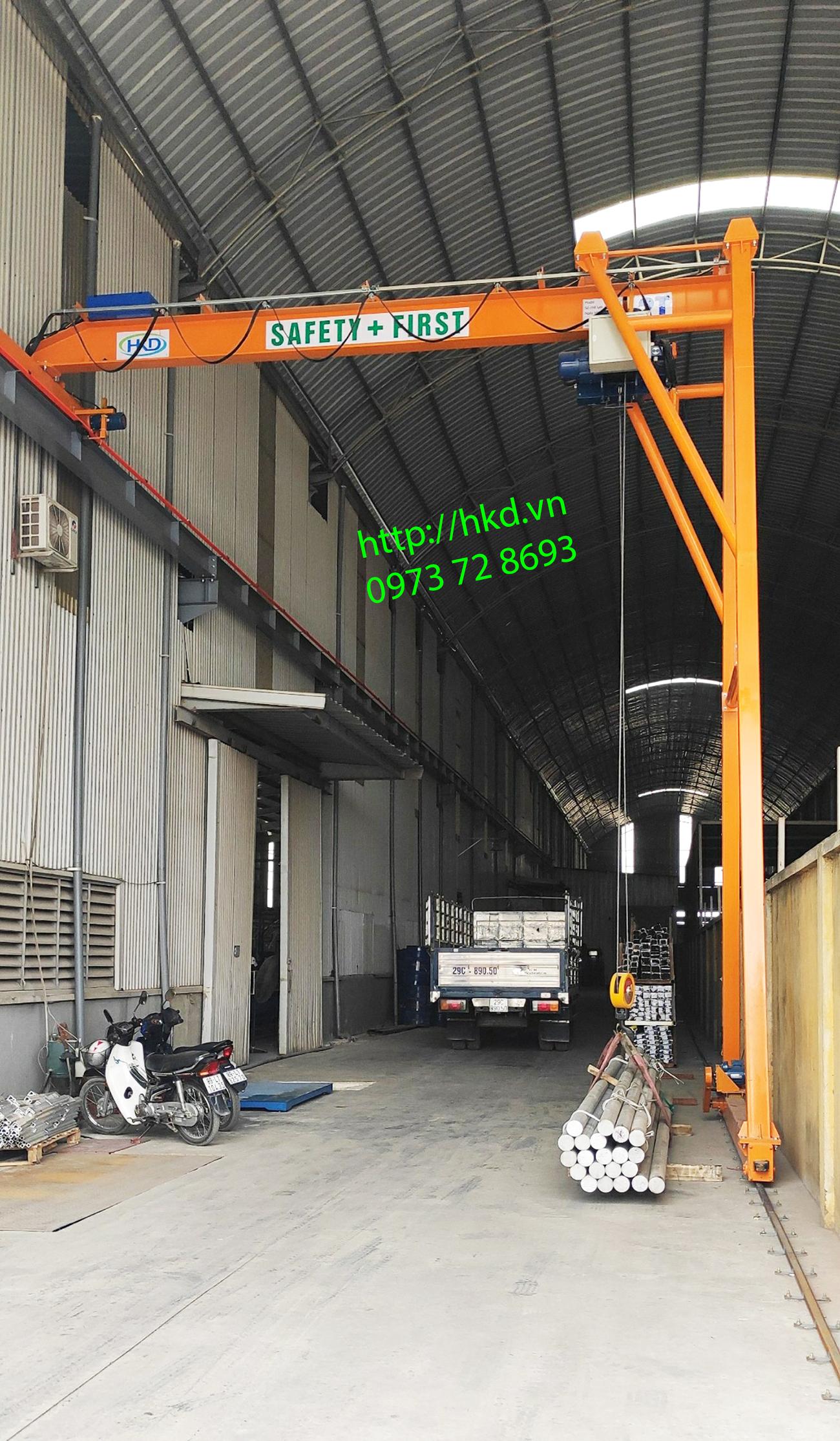 Bán cổng trục dầm đơn 2 tấn