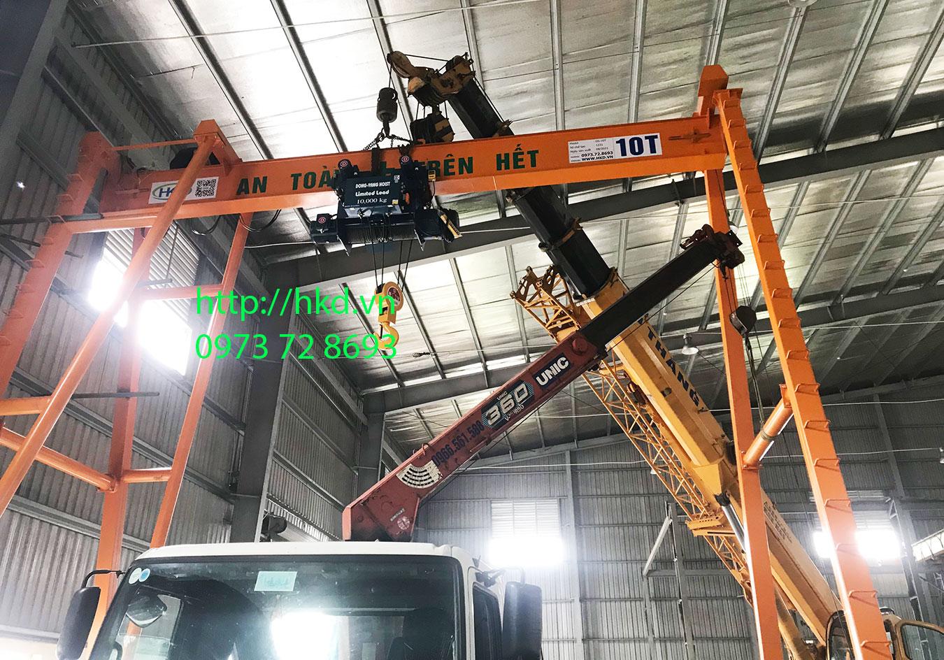 Cổng trục dầm đơn 10 tấn x 8 mét lắp tại KCN An Mỹ, Bình Lục, Hà Nam