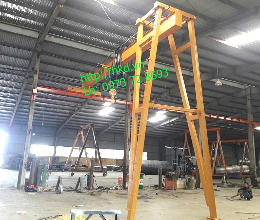 Bán cổng trục dầm đơn 3 tấn HKD sản xuất, lắp đặt
