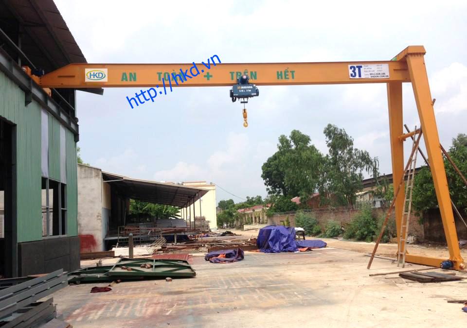 bán cổng trục dầm đơn 3 tấn x 12m HKD sản xuất