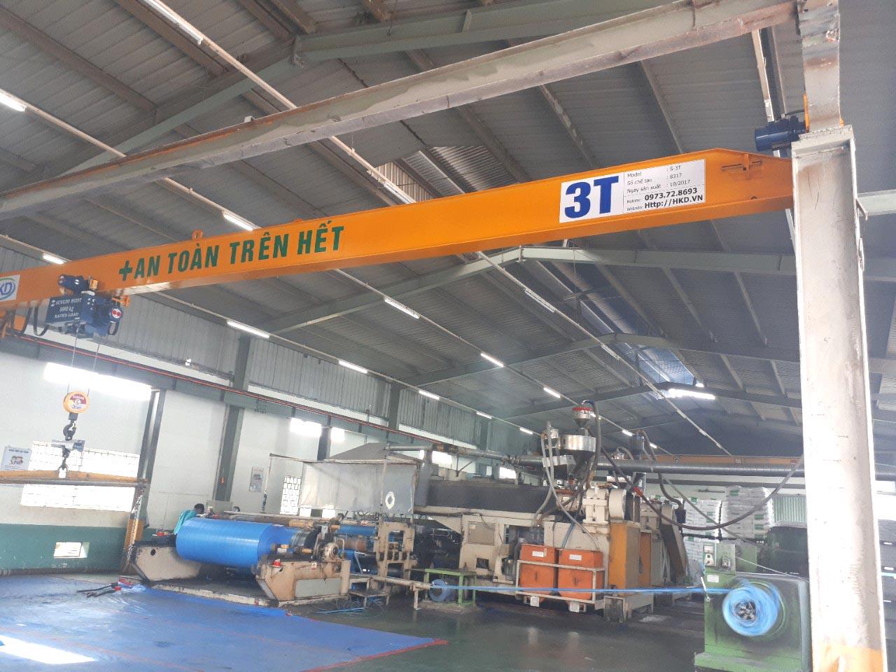 Cầu trục dầm đơn 3 tấn x 12m HKD
