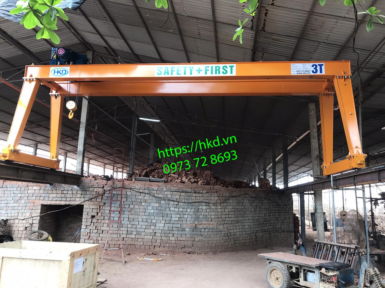 Cổng trục dầm đôi 3 tấn tại HKD