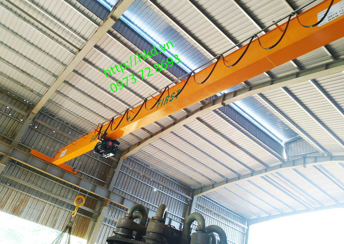 Cầu trục 5 tấn dầm đơn lắp tại Hà Giang bởi Công ty HKD