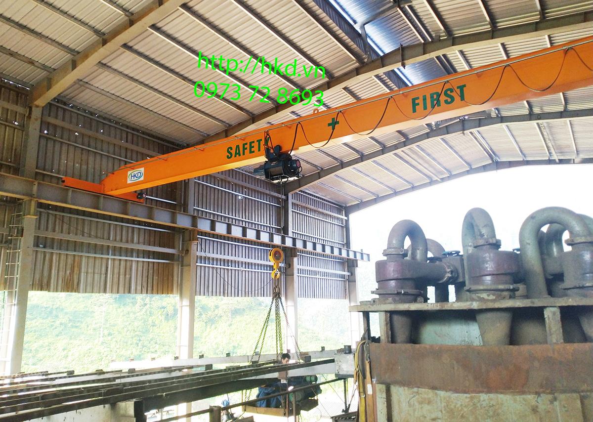 Cầu trục dầm đơn 5 tấn x 18m tại Hà Giang