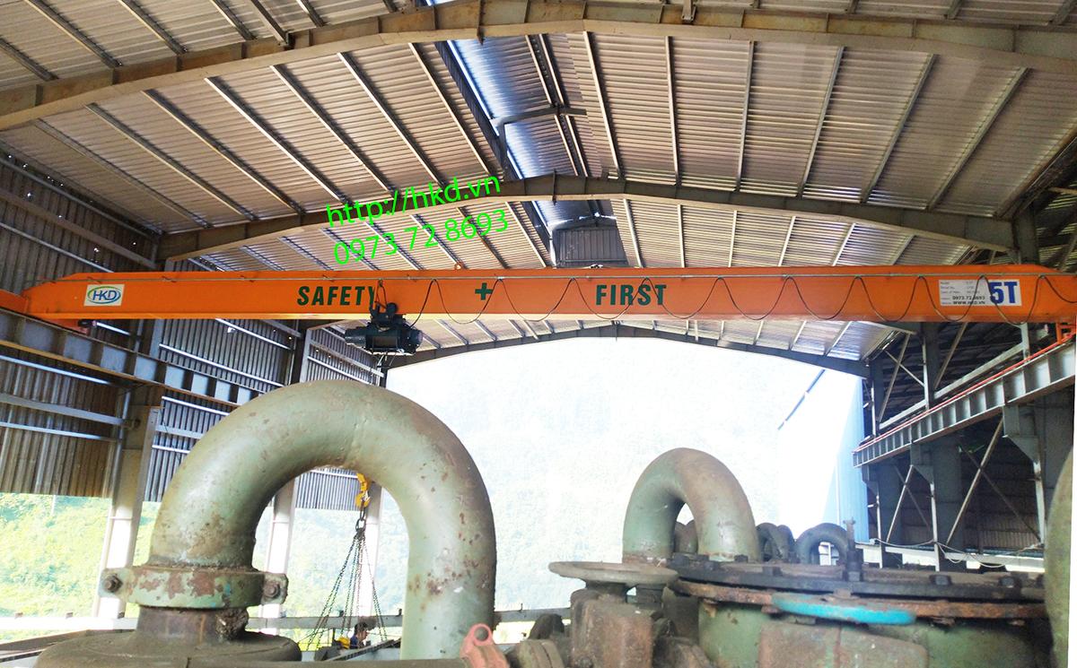 Cầu trục dầm đơn 5 tấn lắp tại Hà Giang