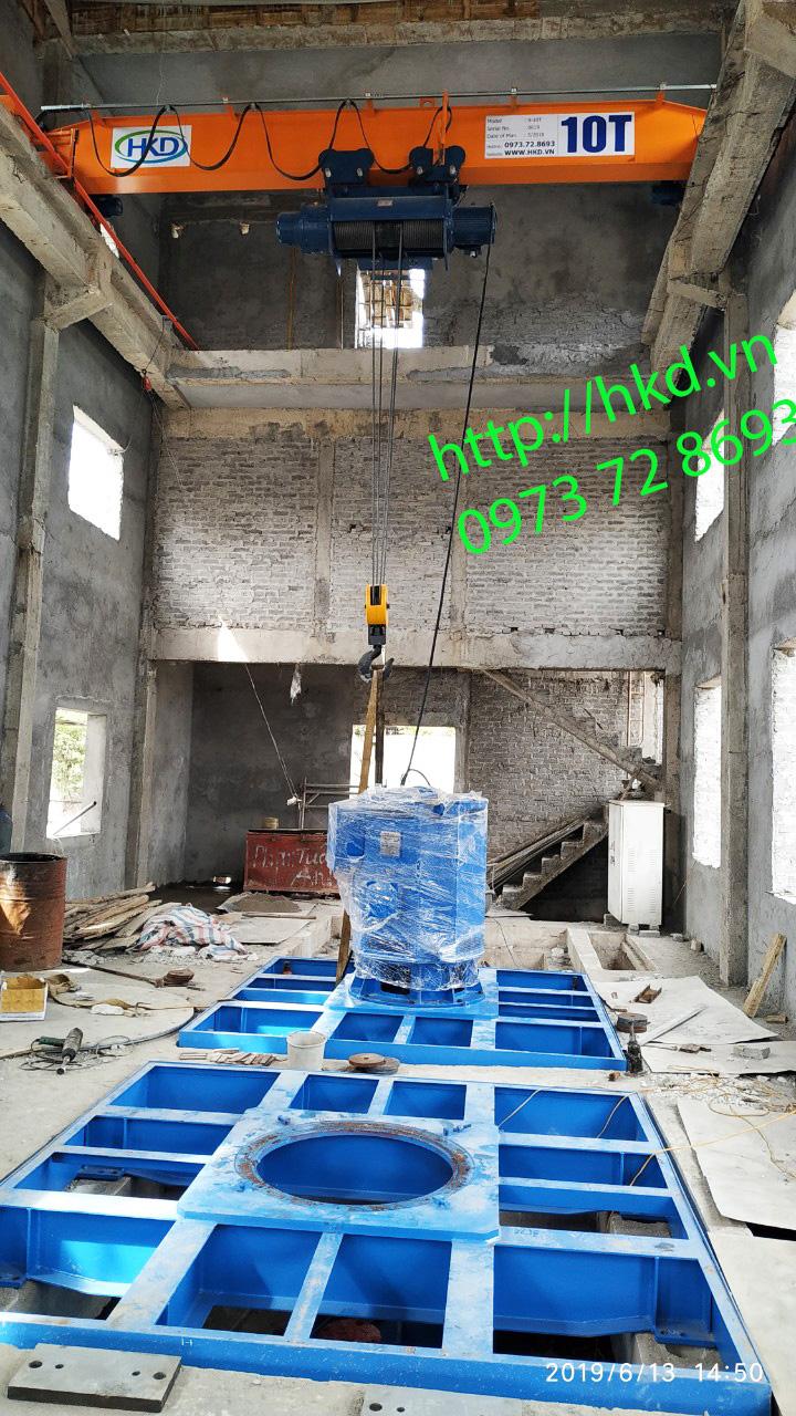 Cầu trục dầm đơn 10 tấn HKD cung cấp