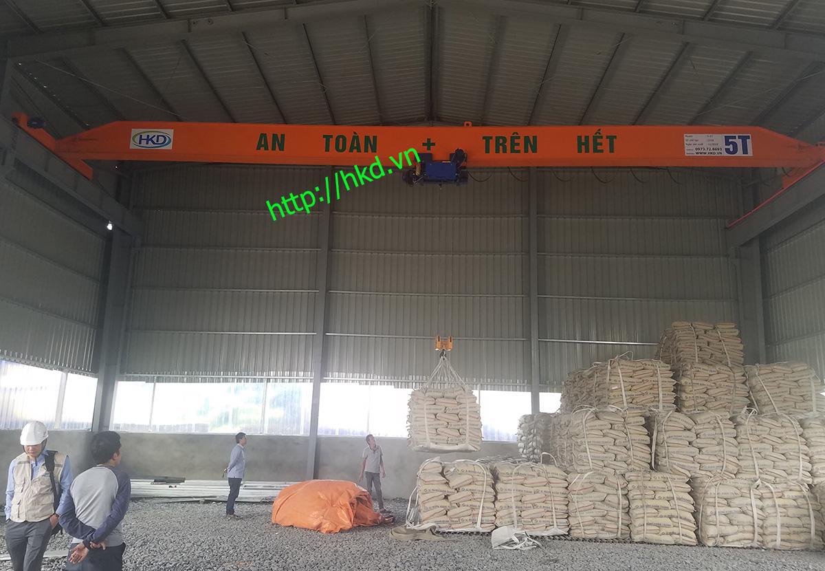 Cầu trục dầm đơn 5 tấn HKD cung cấp khách hàng tại Phú Thọ