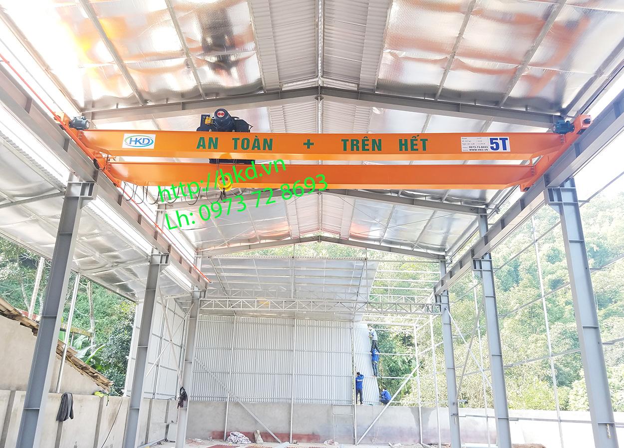 Cầu trục dầm đôi 5 tấn x 10m trọn bộ