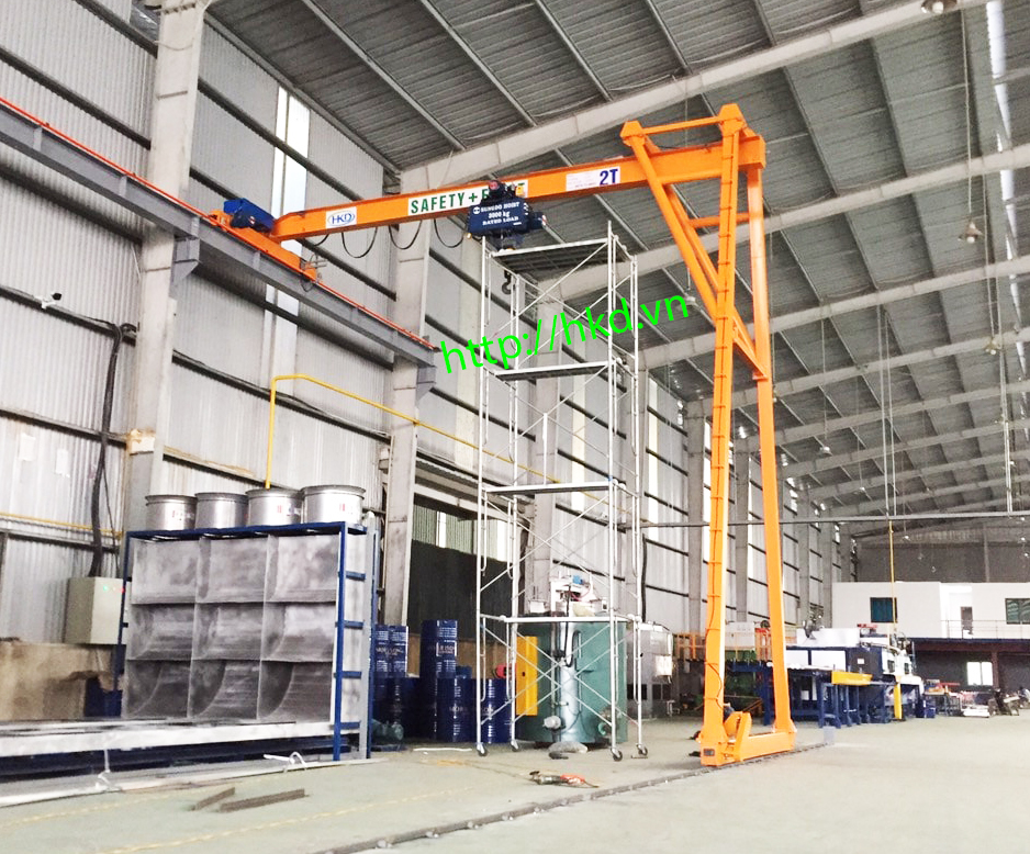 bán cổng trục 2 tấn dầm đơn do HKD sản xuất, lắp đặt