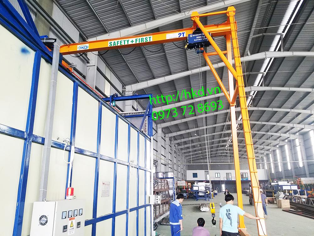 Bán cổng trục dầm đơn 2 tấn lắp tại Hưng Yên