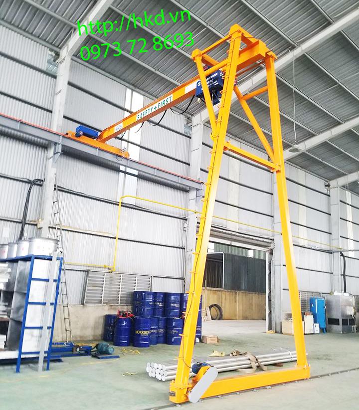 bán cổng trục dầm đơn 2 tấn x 7.5 mét