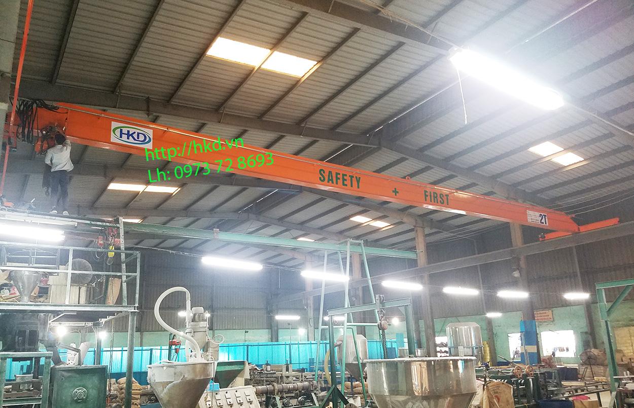 Cầu trục dầm đơn 2 tấn giá tốt tại HKD