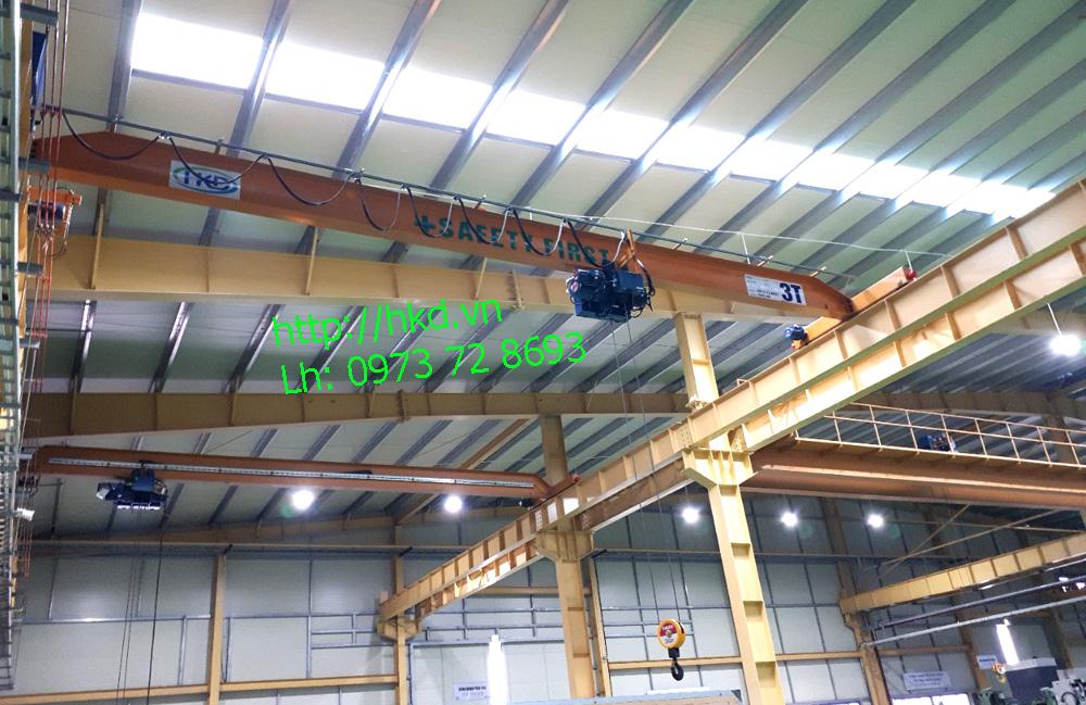 Cầu trục dầm đơn 3 tấn tại HKD
