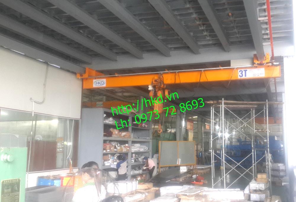 Cầu trục treo dầm đơn 3 tấn HKD