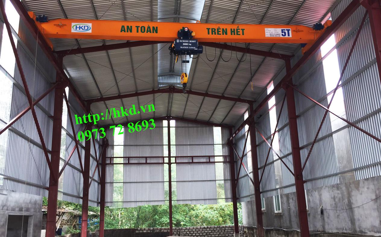 Cầu trục dầm đơn 5 tấn tại HKD cung cấp