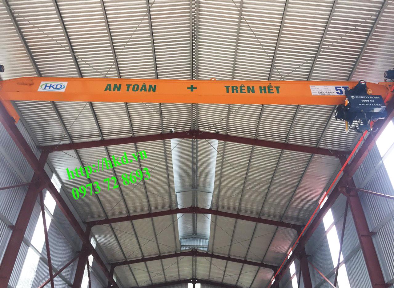 cầu trục 5 tấn trong nhà xưởng HKD cung cấp