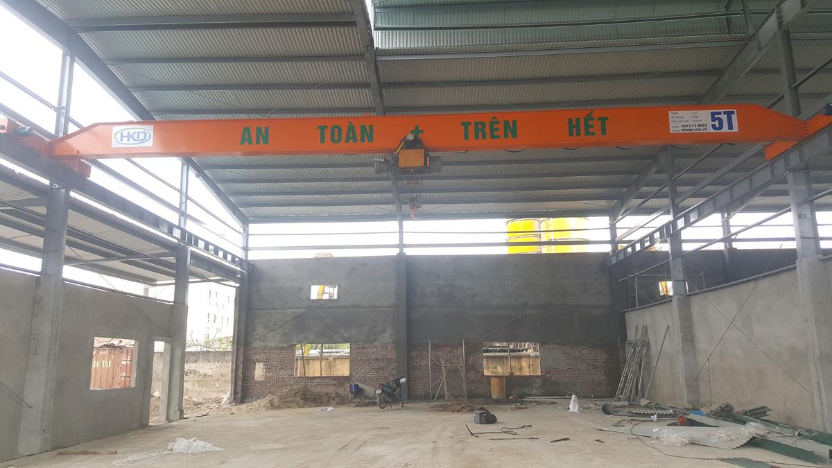 Cầu trục 5 tấn một dầm cho HKD cung cấp tại Hà Nội