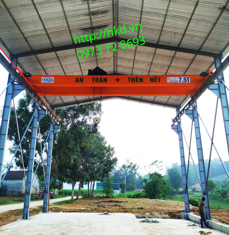 Cầu trục dầm đôi 7.5 tấn- Pa lăng cầu trục