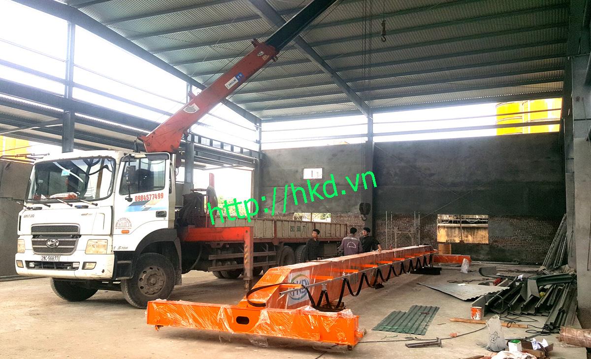 Kết cấu thép cầu trục dầm đơn 5 tấn tại HKD