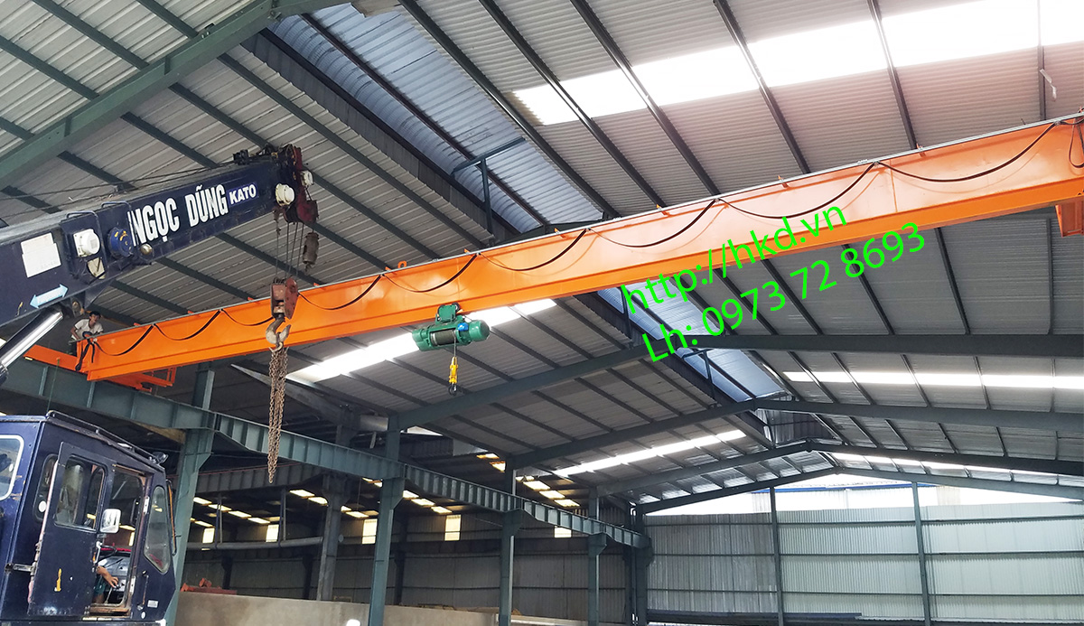 Cầu trục 5 tấn dầm đơn sử dụng cấu hình Trung Quốc