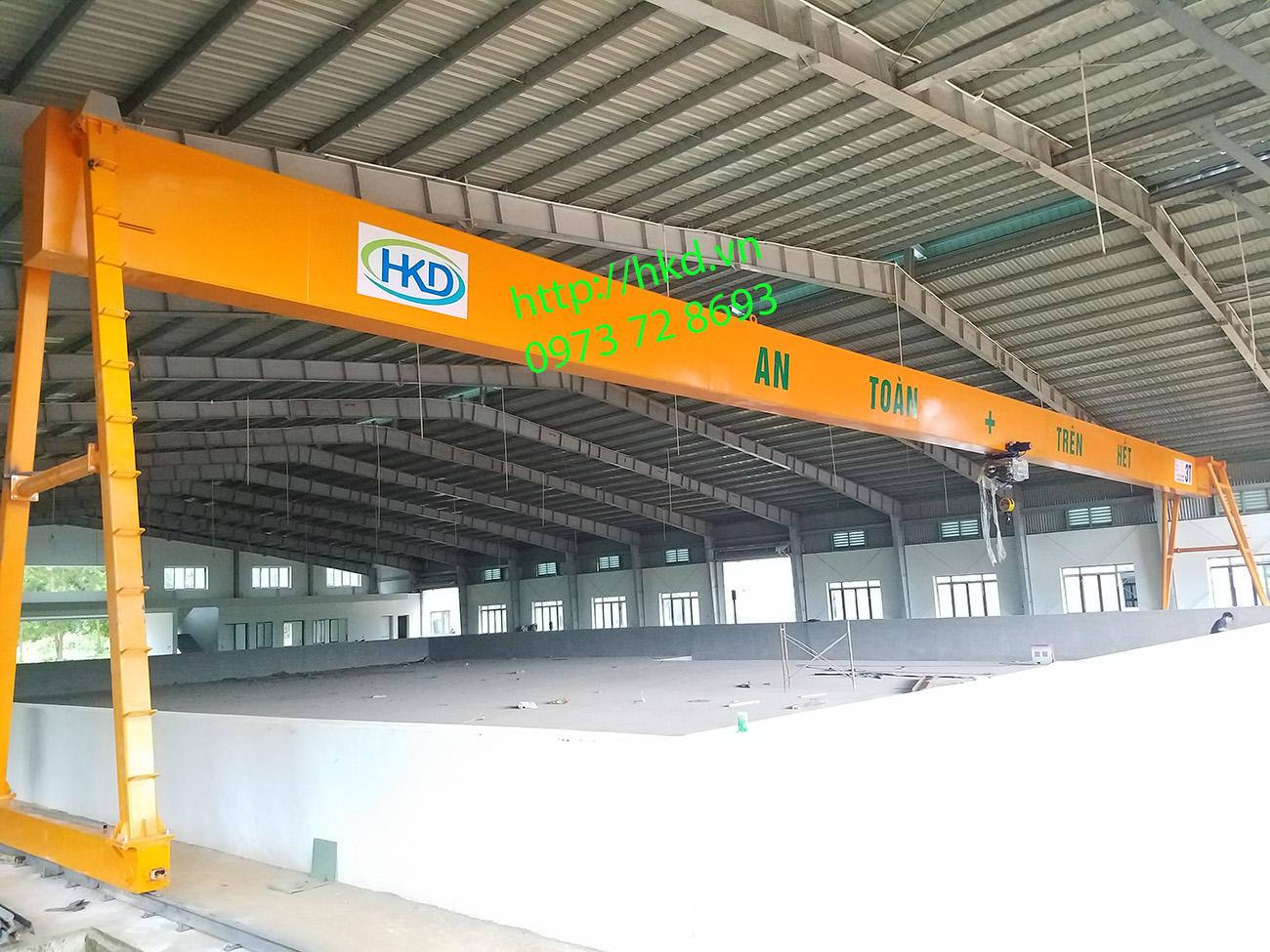 Cổng trục dầm đơn 3 tấn tại HKD cung cấp lắp đặt
