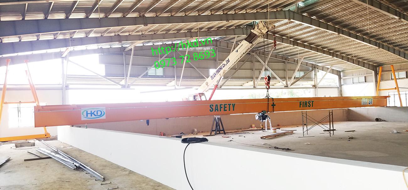 Dầm chính cầu trục dài 35 mét