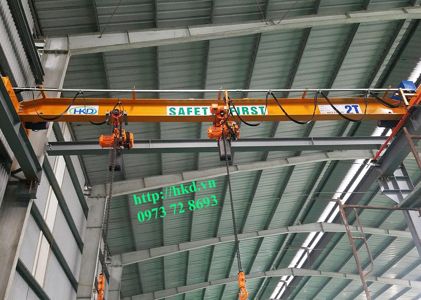 Cầu trục 3 tấn dầm đơn HKD